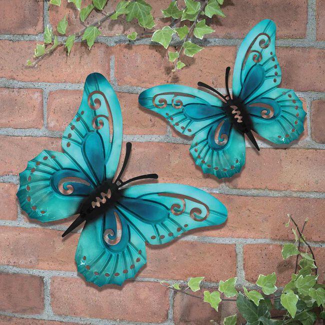 Pastel Butterfly Garden Wall Art 2 Pack