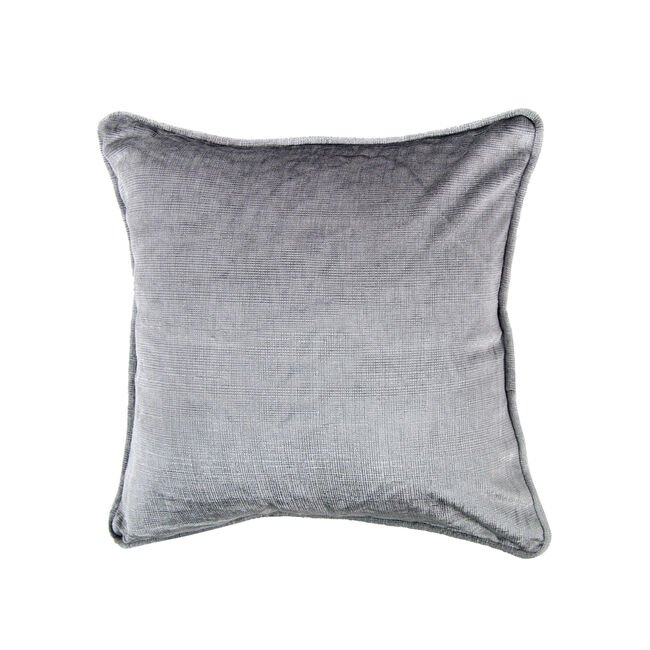 Embossed Cushion 45x45cm - Silver