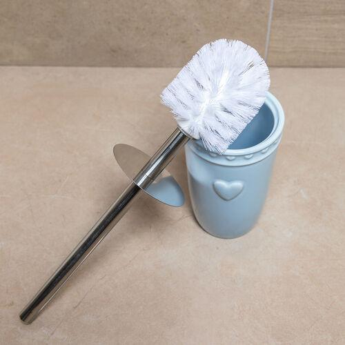 Heart Toilet Brush - Soft Blue