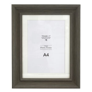 "Slate Grey Photo Frame 8x12"" (A4)"