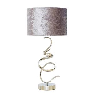 Twisted Chrome Lamp