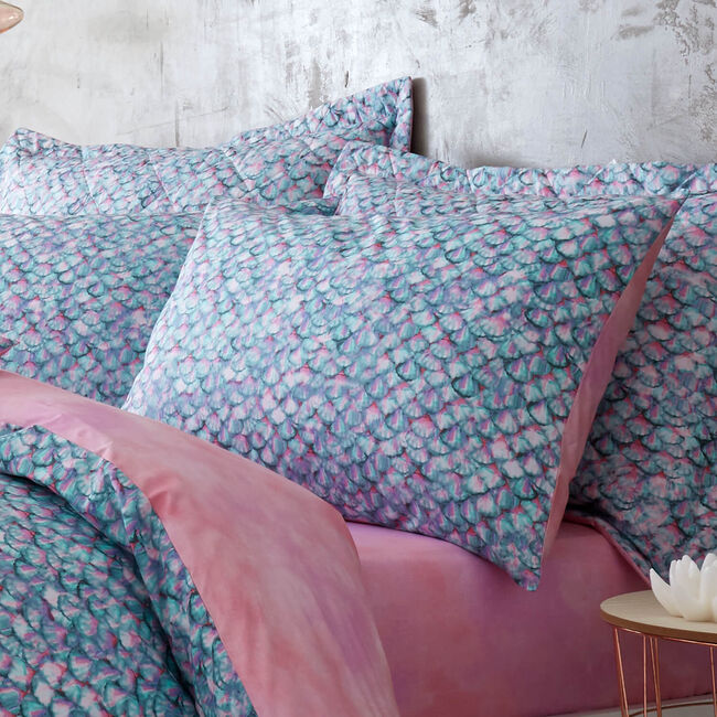 Aquata Oxford Pillowcase Pair - Aqua