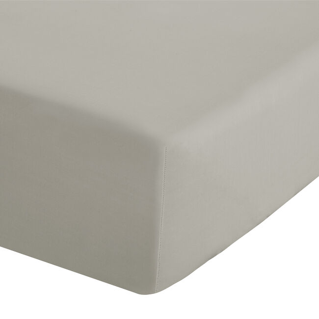 SINGLE FITTED SHEET Luxury Percale Natural