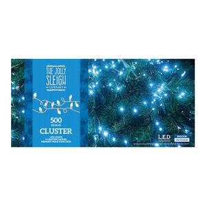 500 Ice Blue LED Cluster Lights