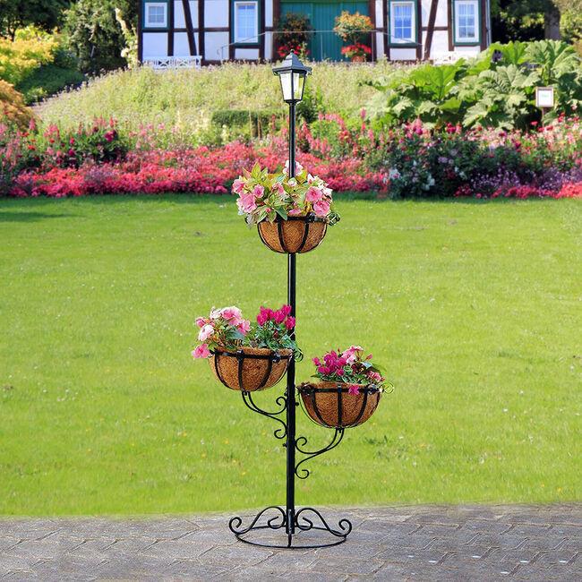 3 Tier Solar Powered Flower Planter