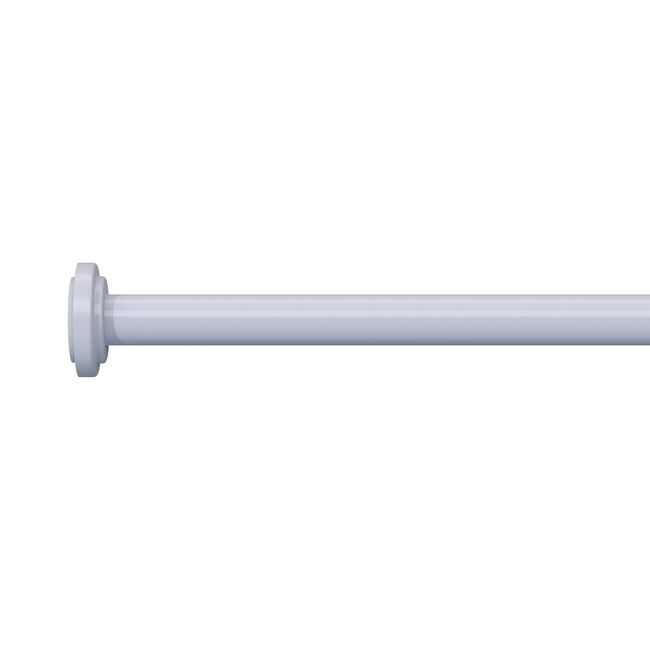 Extendable Tension Rod White 120-210cm
