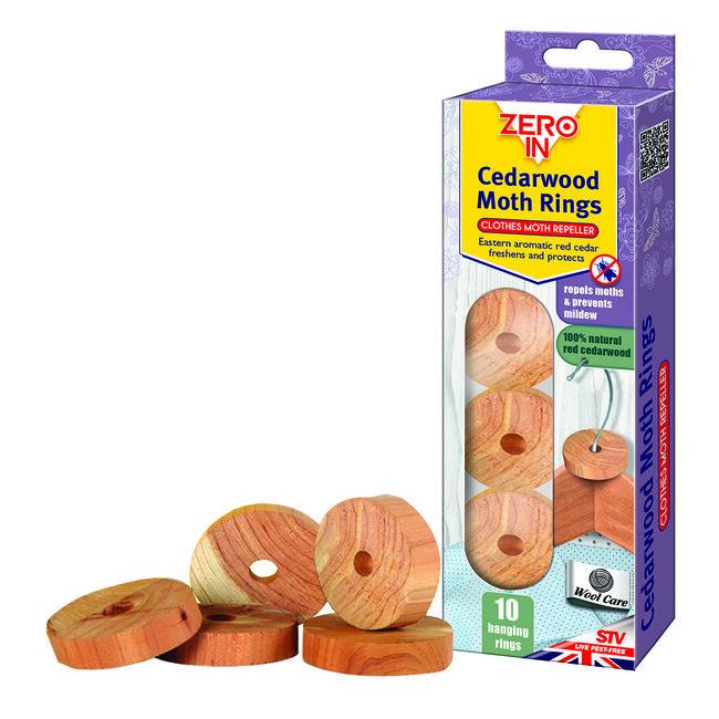 Zero In Cedar wood Moth Repeller- 10 Rings