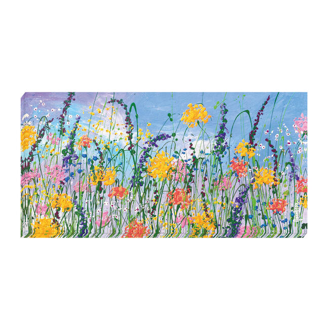 Wild Flowers at Play Canvas 50cm x 100cm