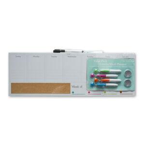 Week Planner Magnetic Whiteboard Value Pack