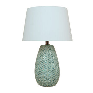 Etched Floral Table Lamp