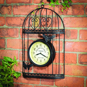 Outdoor Birdcage Clock