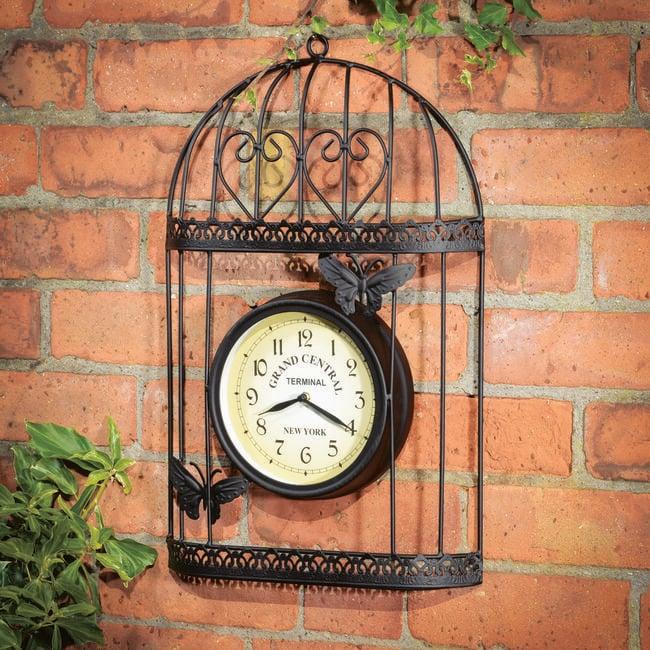 Outdoor Birdcage Clock