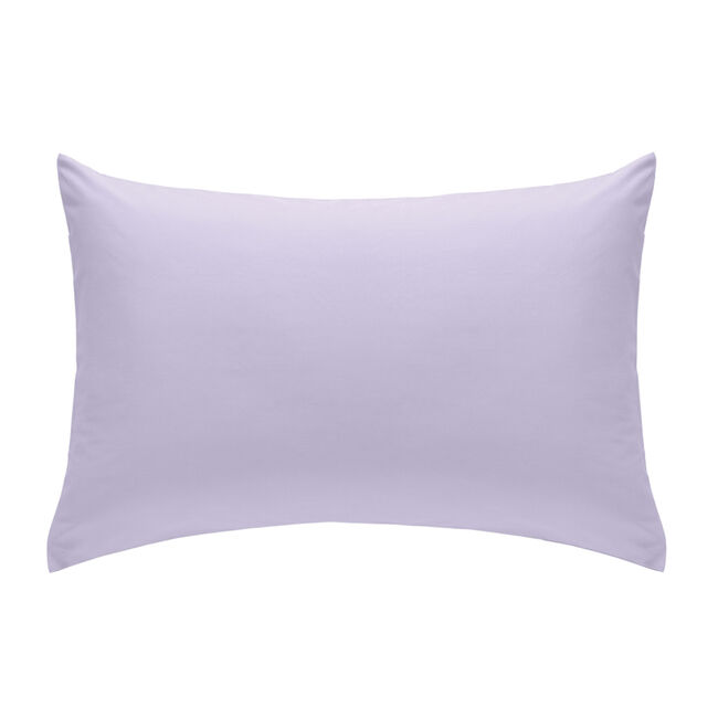 Pair of So Soft Percale Lilac Housewife Pillowcases