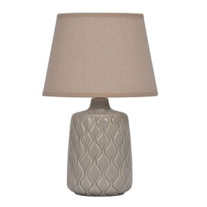 Ceramic Quarry Grey Table Lamp