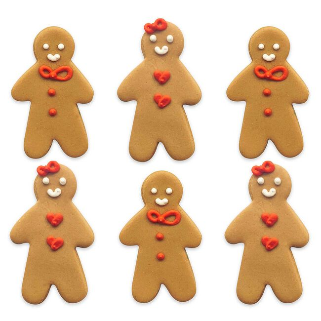Gingerbread Friend Handmade Icing Cake Toppers