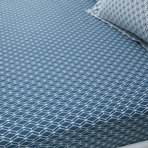 CODY TEAL Single Fitted Sheet