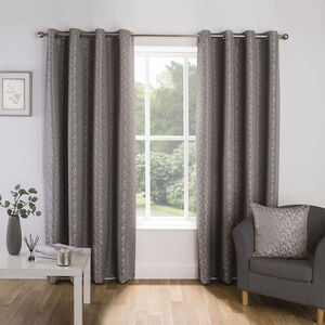 CROSSHATCH SILVER 66x54 Curtain