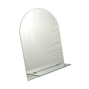Tema Bevelled Shelf Mirror Curved