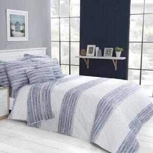 Tangle Stripe Navy Bedspread