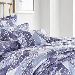 Marbled Geo Blue Cushion 30cm x 50cm