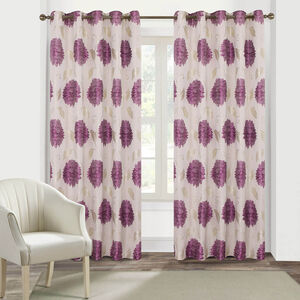 FLORAL BURST PURPLE 66x54 Curtain