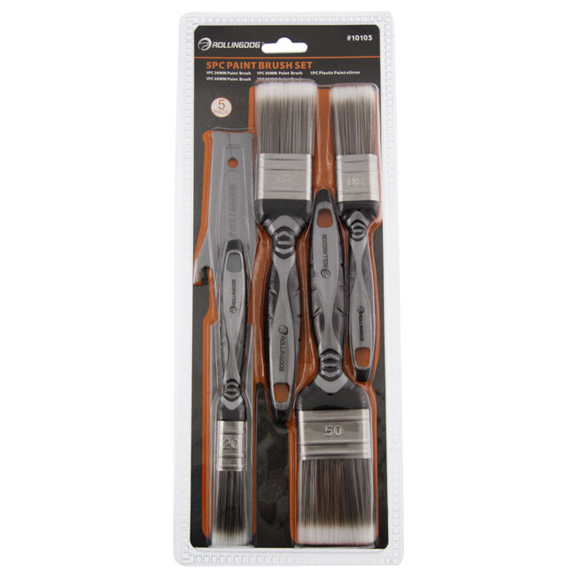 Rolling Dog Paint Brush Set 5 Piece