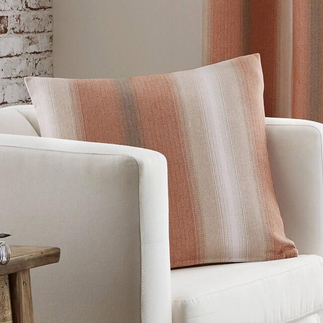 Ticking Stripe Rust Cushion 45cm x 45cm