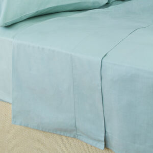 SINGLE FLAT SHEET 200 Threadcount Cotton Duck Egg
