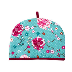 Floral Admiration Teal Tea Cosy