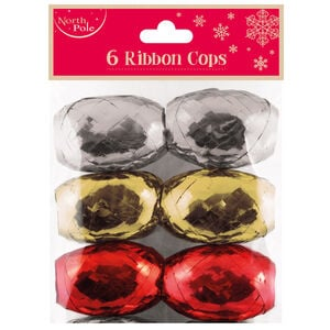 6 Pack Christmas Ribbon Cup