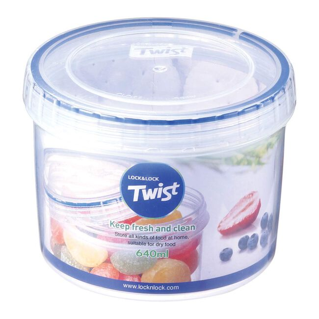Lock & Lock Twist Round Container 640ml