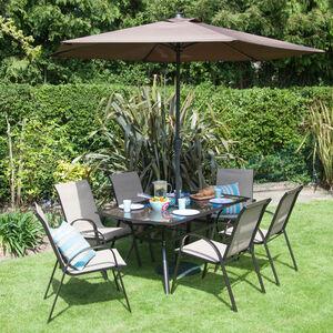 Seville Brown Garden Set 7 Piece