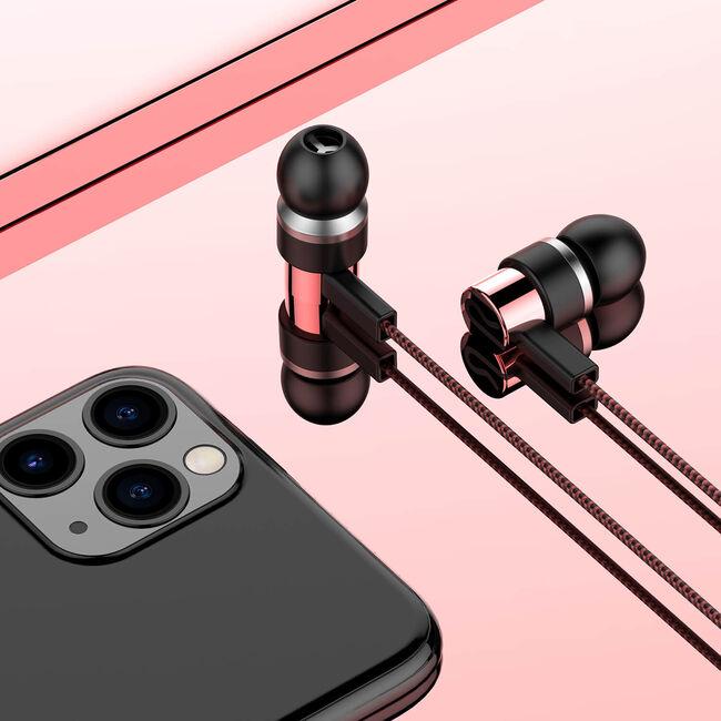Sonarto Fabric Cable Earphones - Red