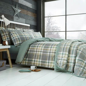 SINGLE DUVET COVER Brushed Cotton Naughton Check