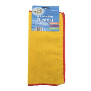 Microfibre 4pk Yellow Dusters