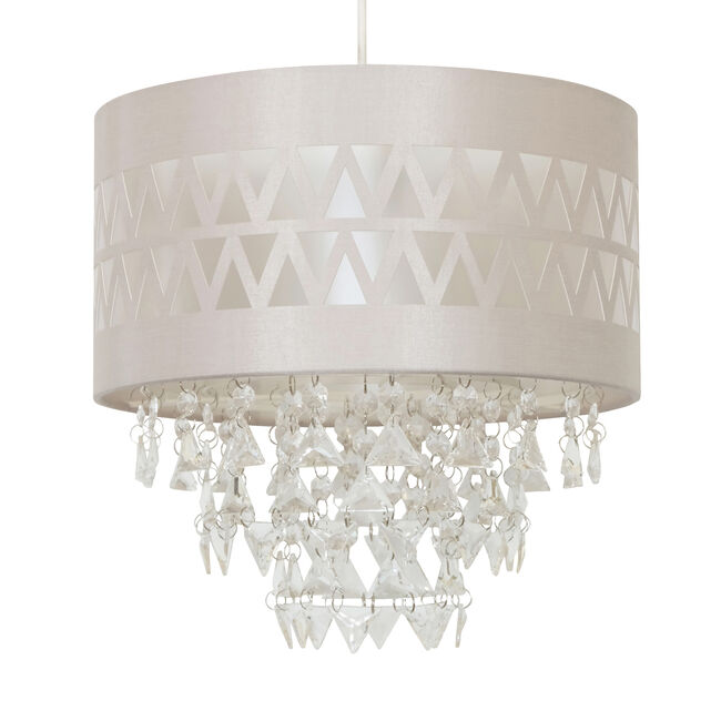 Zigzag Pattern Shade with Pendants
