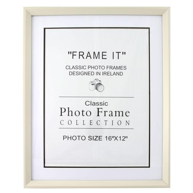 6x8 CREAM Photo Frame JK83215