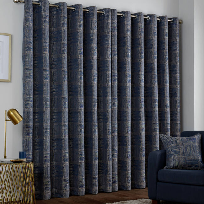 AZURE NAVY 66x54 Curtain