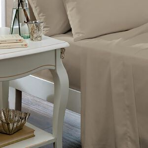 SINGLE FLAT SHEET Luxury  Percale Natural