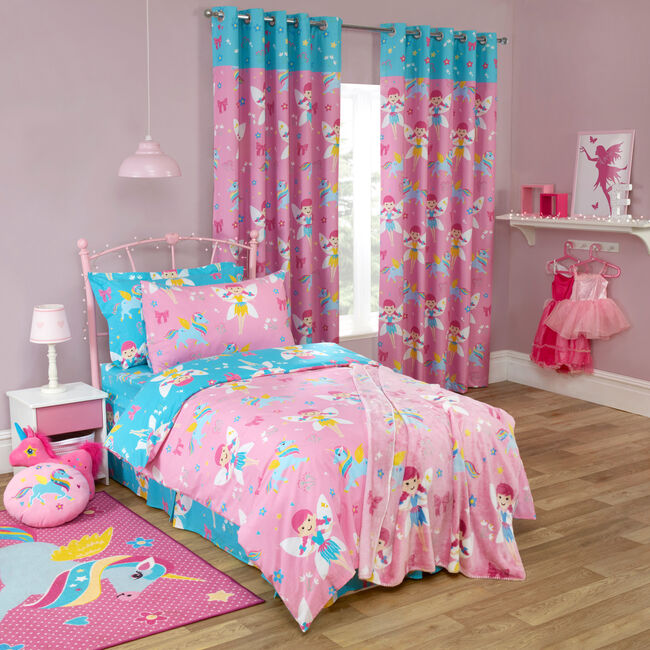 FAIRY UNICORN PINK 66x72 Curtain