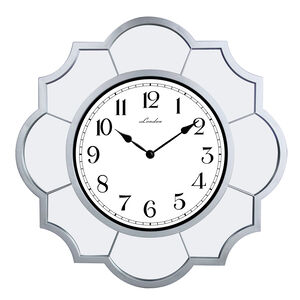 Loire Scallop Clock with Mirrors 22""
