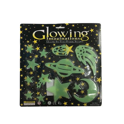 Glow in the Dark Galaxy Stick-ons