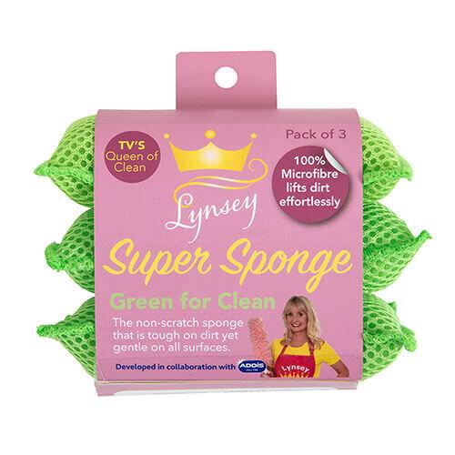 LQOC Super Sponge Green - 3 Pack