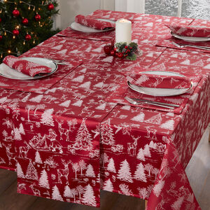 TOILE RED 160x183cm Table Cloth
