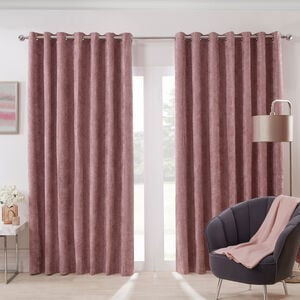 BLACKOUT & THERMAL HERRINGBONE BLUSH 66x54 Curtain
