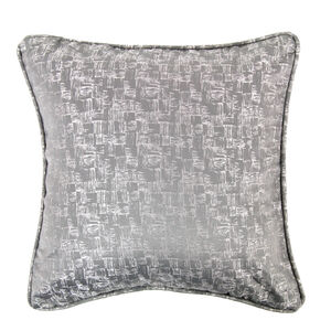 Crosshatch Cushion 45x45cm - Silver