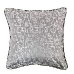 Crosshatch Silver Cushion
