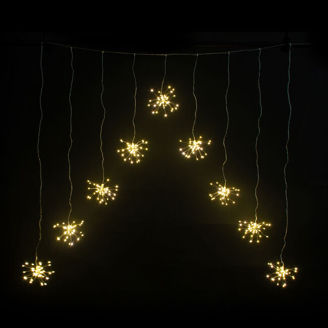 360 LED Cluster Ball Copper Wire Curtain Light