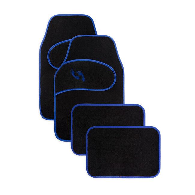 Car Floor Mat Blue - 4 Piece
