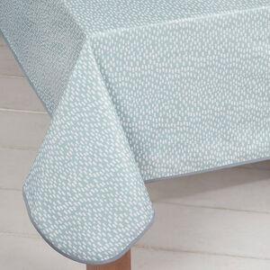 Droplets Duck Egg Table Cloth 160cm x 230cm